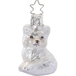 <img class='new_mark_img1' src='https://img.shop-pro.jp/img/new/icons14.gif' style='border:none;display:inline;margin:0px;padding:0px;width:auto;' />Little Snow Fox Glass Ornament