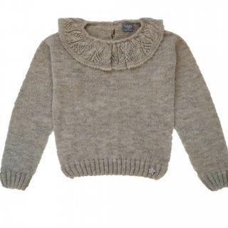 tocotovintage openwork frilled sweater