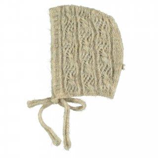 tocotovintage baby openwork lace bonnet(beige)
