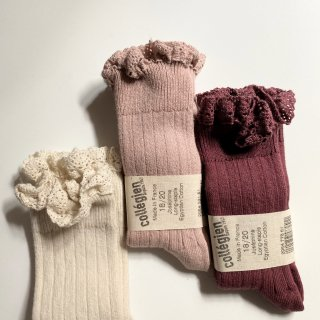 <img class='new_mark_img1' src='https://img.shop-pro.jp/img/new/icons14.gif' style='border:none;display:inline;margin:0px;padding:0px;width:auto;' />Collegien Josephine frilled lace High Sox ※bonjourdiary仕様