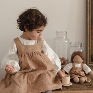 <img class='new_mark_img1' src='https://img.shop-pro.jp/img/new/icons14.gif' style='border:none;display:inline;margin:0px;padding:0px;width:auto;' />Noel NILS happy to see you  KIDS cumbrae dress /sugar brown check