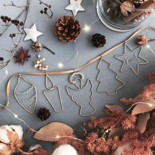 RUNI xmas motif ornaments  garland