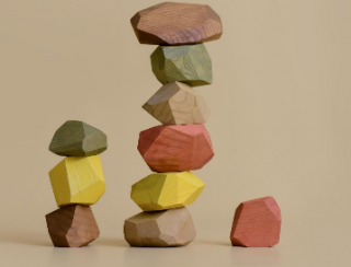 <img class='new_mark_img1' src='https://img.shop-pro.jp/img/new/icons14.gif' style='border:none;display:inline;margin:0px;padding:0px;width:auto;' />Wooden balancing stones (earthy)3月入荷予定分ご予約