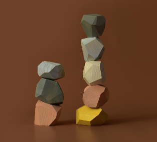 <img class='new_mark_img1' src='https://img.shop-pro.jp/img/new/icons14.gif' style='border:none;display:inline;margin:0px;padding:0px;width:auto;' />Wooden balancing stones (pastel)3月入荷予定分ご予約