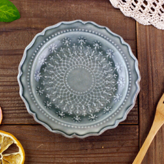 <img class='new_mark_img1' src='https://img.shop-pro.jp/img/new/icons14.gif' style='border:none;display:inline;margin:0px;padding:0px;width:auto;' />入荷!French lace plate GRAY(S)