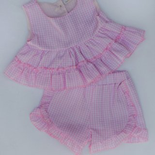 <img class='new_mark_img1' src='https://img.shop-pro.jp/img/new/icons14.gif' style='border:none;display:inline;margin:0px;padding:0px;width:auto;' />Pink Gingham top & shorts set From Australia(2月入荷予定ご予約)