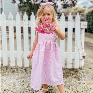 <img class='new_mark_img1' src='https://img.shop-pro.jp/img/new/icons14.gif' style='border:none;display:inline;margin:0px;padding:0px;width:auto;' />Pink Gingham  Dress  From Australia(2月入荷予定ご予約)