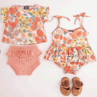 <img class='new_mark_img1' src='https://img.shop-pro.jp/img/new/icons14.gif' style='border:none;display:inline;margin:0px;padding:0px;width:auto;' />tocotovintage  baby Flower print romper (21SS new textile)