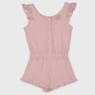 <img class='new_mark_img1' src='https://img.shop-pro.jp/img/new/icons14.gif' style='border:none;display:inline;margin:0px;padding:0px;width:auto;' />organic cotton Frils Bambula playsuit from Spain (pinkbeige)