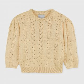 <img class='new_mark_img1' src='https://img.shop-pro.jp/img/new/icons14.gif' style='border:none;display:inline;margin:0px;padding:0px;width:auto;' />cotton  openwork sweater from Spain (paleyellow)