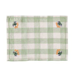 <img class='new_mark_img1' src='https://img.shop-pro.jp/img/new/icons14.gif' style='border:none;display:inline;margin:0px;padding:0px;width:auto;' />Projektityyny  gingham embroidered placemat/napkin