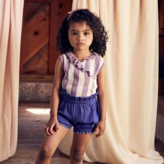 <img class='new_mark_img1' src='https://img.shop-pro.jp/img/new/icons14.gif' style='border:none;display:inline;margin:0px;padding:0px;width:auto;' />MISHA & PUFF Ribbed bubble shorts (Blue Violet)4-5y