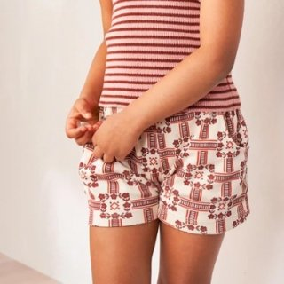 <img class='new_mark_img1' src='https://img.shop-pro.jp/img/new/icons14.gif' style='border:none;display:inline;margin:0px;padding:0px;width:auto;' />MISHA & PUFF Cycling shorts (Railroad Floral)7-8y