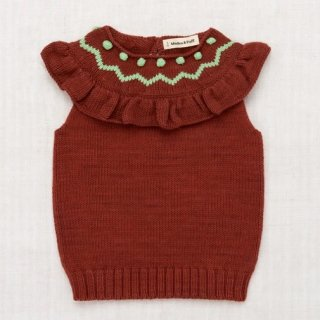 <img class='new_mark_img1' src='https://img.shop-pro.jp/img/new/icons14.gif' style='border:none;display:inline;margin:0px;padding:0px;width:auto;' />MISHA & PUFF Zigzag Ruffle Vest (cocoa bean)