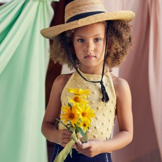 <img class='new_mark_img1' src='https://img.shop-pro.jp/img/new/icons14.gif' style='border:none;display:inline;margin:0px;padding:0px;width:auto;' />MISHA & PUFF Summer Popcorn Halter Top (straw) 7-8y