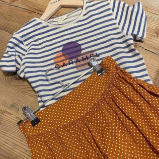 <img class='new_mark_img1' src='https://img.shop-pro.jp/img/new/icons14.gif' style='border:none;display:inline;margin:0px;padding:0px;width:auto;' />CARAMEL Otter T-Shirt, Blue/Ivory Stripe Print Shapes