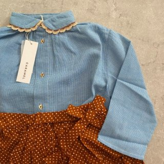 <img class='new_mark_img1' src='https://img.shop-pro.jp/img/new/icons14.gif' style='border:none;display:inline;margin:0px;padding:0px;width:auto;' />CARAMEL Conch Shirt, Blue Microcheck