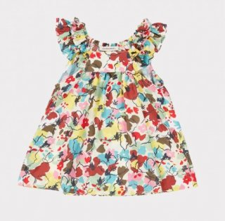 <img class='new_mark_img1' src='https://img.shop-pro.jp/img/new/icons14.gif' style='border:none;display:inline;margin:0px;padding:0px;width:auto;' />CARAMEL  Mulloway Baby Dress Woven Dress Painted Flower