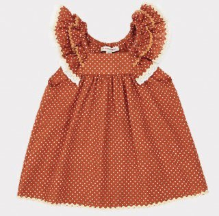 <img class='new_mark_img1' src='https://img.shop-pro.jp/img/new/icons14.gif' style='border:none;display:inline;margin:0px;padding:0px;width:auto;' />CARAMEL  Mulloway Baby Dress Woven Dress Rust Dot