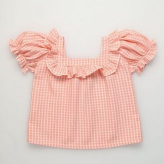 <img class='new_mark_img1' src='https://img.shop-pro.jp/img/new/icons14.gif' style='border:none;display:inline;margin:0px;padding:0px;width:auto;' />The New Society  RACHEL CORAL CHECK BLOUSE