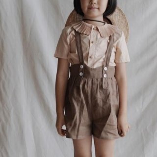 <img class='new_mark_img1' src='https://img.shop-pro.jp/img/new/icons14.gif' style='border:none;display:inline;margin:0px;padding:0px;width:auto;' />Meskidsdesfleurs  suspender shorts (brown)