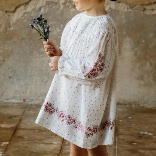<img class='new_mark_img1' src='https://img.shop-pro.jp/img/new/icons14.gif' style='border:none;display:inline;margin:0px;padding:0px;width:auto;' />Tulip dress (hand embroidary polkadot ) from USA