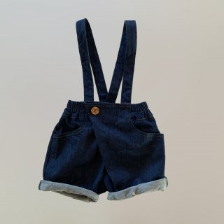 <img class='new_mark_img1' src='https://img.shop-pro.jp/img/new/icons14.gif' style='border:none;display:inline;margin:0px;padding:0px;width:auto;' />DALSTON Shorts with suspender  from Italy (blue denim  )