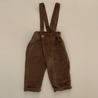 <img class='new_mark_img1' src='https://img.shop-pro.jp/img/new/icons14.gif' style='border:none;display:inline;margin:0px;padding:0px;width:auto;' />DALSTON Trousers with suspender  from Italy (brown linen  )