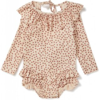 <img class='new_mark_img1' src='https://img.shop-pro.jp/img/new/icons14.gif' style='border:none;display:inline;margin:0px;padding:0px;width:auto;' />Konges SLoejd  Long sleeve Swimsuits (buttercup ROSE )