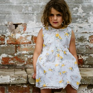 <img class='new_mark_img1' src='https://img.shop-pro.jp/img/new/icons20.gif' style='border:none;display:inline;margin:0px;padding:0px;width:auto;' />SALE!!Little cottons dress Maggie dress (MARIGOLD FLORAL WHITE)
