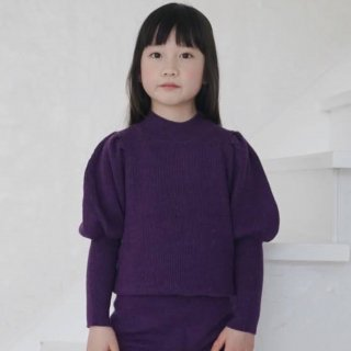 <img class='new_mark_img1' src='https://img.shop-pro.jp/img/new/icons14.gif' style='border:none;display:inline;margin:0px;padding:0px;width:auto;' />Meskidsdesfleurs  Puff Sleeved sweater (purple)