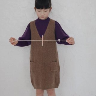 <img class='new_mark_img1' src='https://img.shop-pro.jp/img/new/icons14.gif' style='border:none;display:inline;margin:0px;padding:0px;width:auto;' />Meskidsdesfleurs  Knitted Dress (brown)