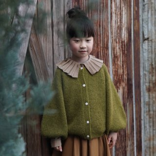 <img class='new_mark_img1' src='https://img.shop-pro.jp/img/new/icons14.gif' style='border:none;display:inline;margin:0px;padding:0px;width:auto;' />Meskidsdesfleurs  Puff Sleeved cardigan(olive)