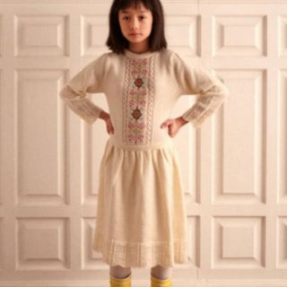 <img class='new_mark_img1' src='https://img.shop-pro.jp/img/new/icons14.gif' style='border:none;display:inline;margin:0px;padding:0px;width:auto;' />Fish &kids   CROSS POINT KNITTED DRESS