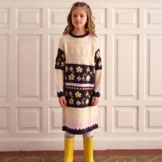 <img class='new_mark_img1' src='https://img.shop-pro.jp/img/new/icons14.gif' style='border:none;display:inline;margin:0px;padding:0px;width:auto;' />Fish &kids   Patchwork Flower KNITTED DRESS