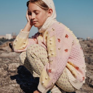 <img class='new_mark_img1' src='https://img.shop-pro.jp/img/new/icons14.gif' style='border:none;display:inline;margin:0px;padding:0px;width:auto;' />Fish &kids   Patchwork Flower Sweater (pink&yel)