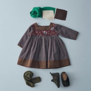 <img class='new_mark_img1' src='https://img.shop-pro.jp/img/new/icons14.gif' style='border:none;display:inline;margin:0px;padding:0px;width:auto;' />CARAMEL EARTH DRESS (brown whistle print)21AW