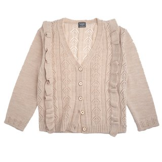 <img class='new_mark_img1' src='https://img.shop-pro.jp/img/new/icons14.gif' style='border:none;display:inline;margin:0px;padding:0px;width:auto;' />tocotovintage  Knitted lacework cardigan (offwhite)