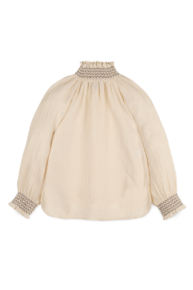 <img class='new_mark_img1' src='https://img.shop-pro.jp/img/new/icons14.gif' style='border:none;display:inline;margin:0px;padding:0px;width:auto;' />Smock  Bambula  blouse (off white)