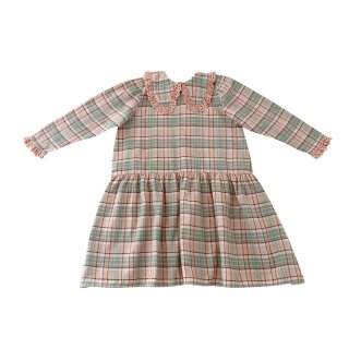 <img class='new_mark_img1' src='https://img.shop-pro.jp/img/new/icons14.gif' style='border:none;display:inline;margin:0px;padding:0px;width:auto;' />LiiLU   LOLA  round collared Dress (check)