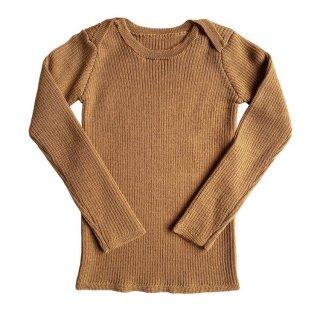 MABLI Sylfaen Skinny Rib Wool Top (Peanuts)