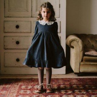 <img class='new_mark_img1' src='https://img.shop-pro.jp/img/new/icons14.gif' style='border:none;display:inline;margin:0px;padding:0px;width:auto;' />Little cottons Mila VELVET  Dress (winter blue velvet)