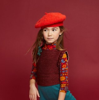 <img class='new_mark_img1' src='https://img.shop-pro.jp/img/new/icons14.gif' style='border:none;display:inline;margin:0px;padding:0px;width:auto;' />★MISHA & PUFF  Boucle Simple Beret (Red Flame) アルパカ100%