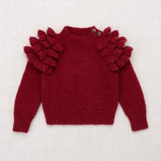<img class='new_mark_img1' src='https://img.shop-pro.jp/img/new/icons14.gif' style='border:none;display:inline;margin:0px;padding:0px;width:auto;' />★MISHA & PUFF  Boucle Ruffle Sweater (Cranberry)