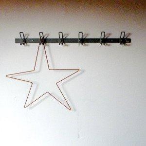 Vintage metal hook  (6連)from france