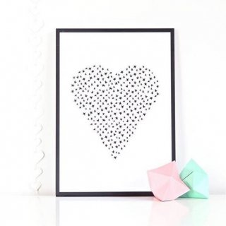 Ingrid Petrie Design  A4 poster(Heart)
