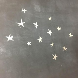 Poetic wall    star wall sticker Silver