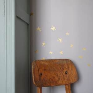 Poetic wall    star wall sticker Gold