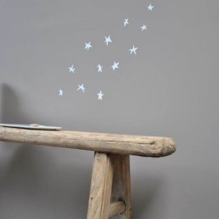Poetic wall    star wall sticker White