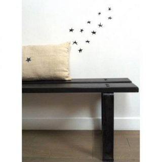 Poetic wall    star wall sticker Black